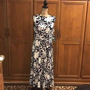 NWT Ralph Lauren blue white dress sleeveless